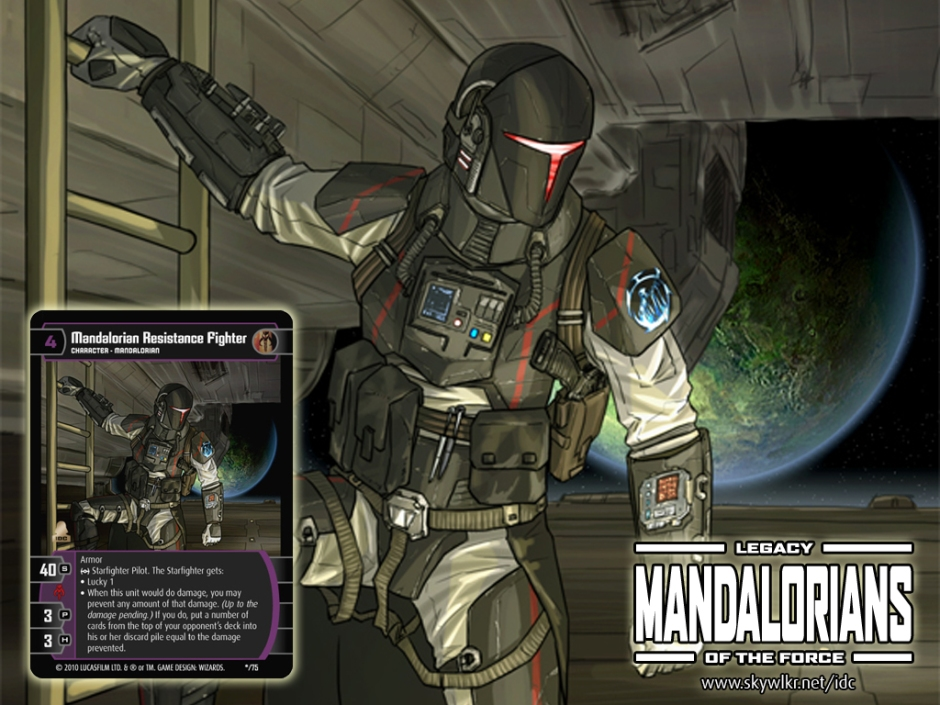 Mando Wallpaper 1 Star Wars Trading Card Game Independent