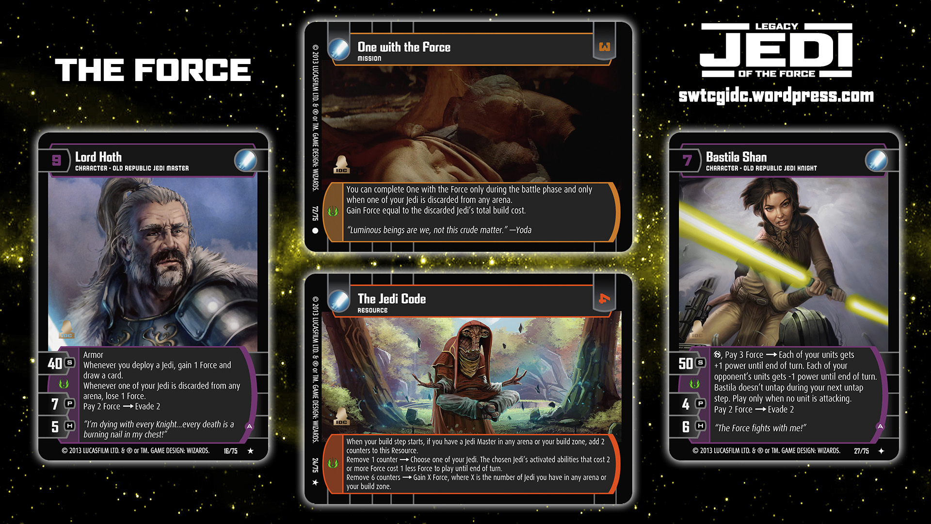 Star Wars Trading Card Game Jedi Wallpaper 2 The Force Star Wars Trading Card Game Independent Development Committee