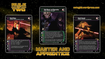Star Wars Trading Card Game ROT Wallpaper 2 - Master and Apprentice
