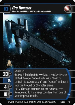 Star Wars Trading Card Game TDT001_Arc_Hammer_A