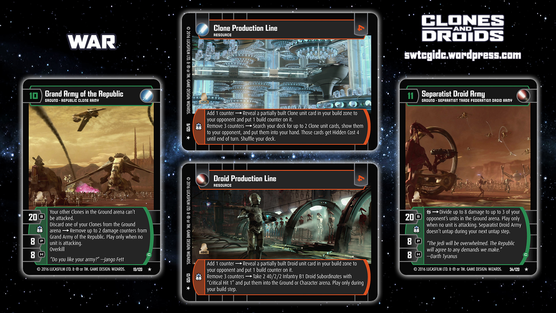 clones and droids star wars trading card game