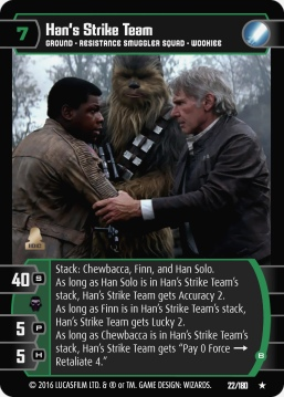 Star Wars Trading Card Game star wars tcg TFA022_Han_s_Strike_Team_B