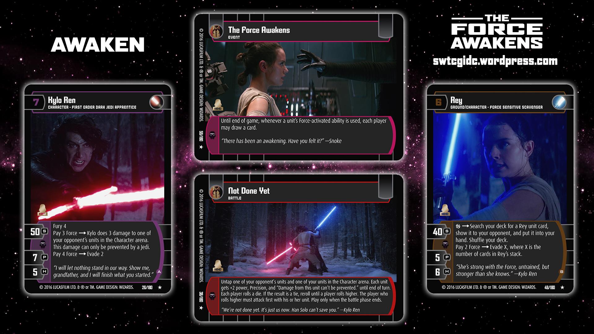 Star Wars Trading Card Game The Force Awakens Wallpaper 6 Awaken