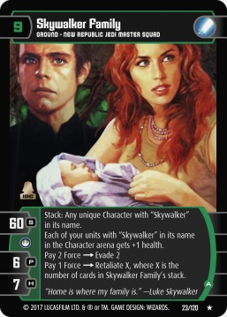 Star Wars Trading Card Game SBS023_Skywalker_Family_A
