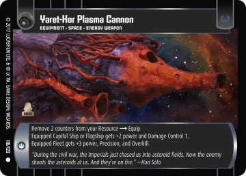 Star Wars Trading Card Game SBS118_Yaret_Kor_Plasma_Cannon