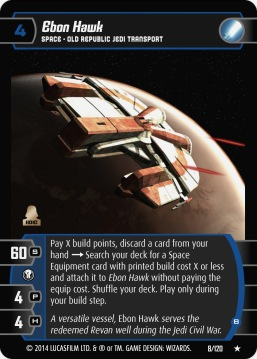 Star Wars Trading Card Game TOR008_Ebon_Hawk_B