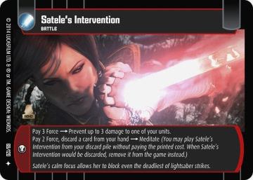 Star Wars Trading Cards TOR069_Satele_s_Intervention