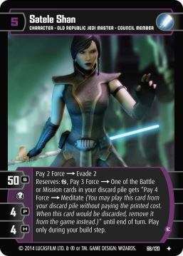 Star Wars Trading Card Game TOR068_Satele_Shan_E