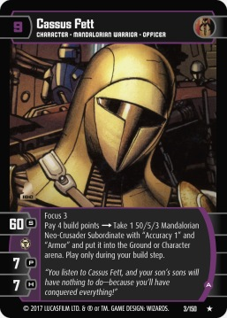 Star Wars Trading Card Game DAN003_Cassus_Fett_A