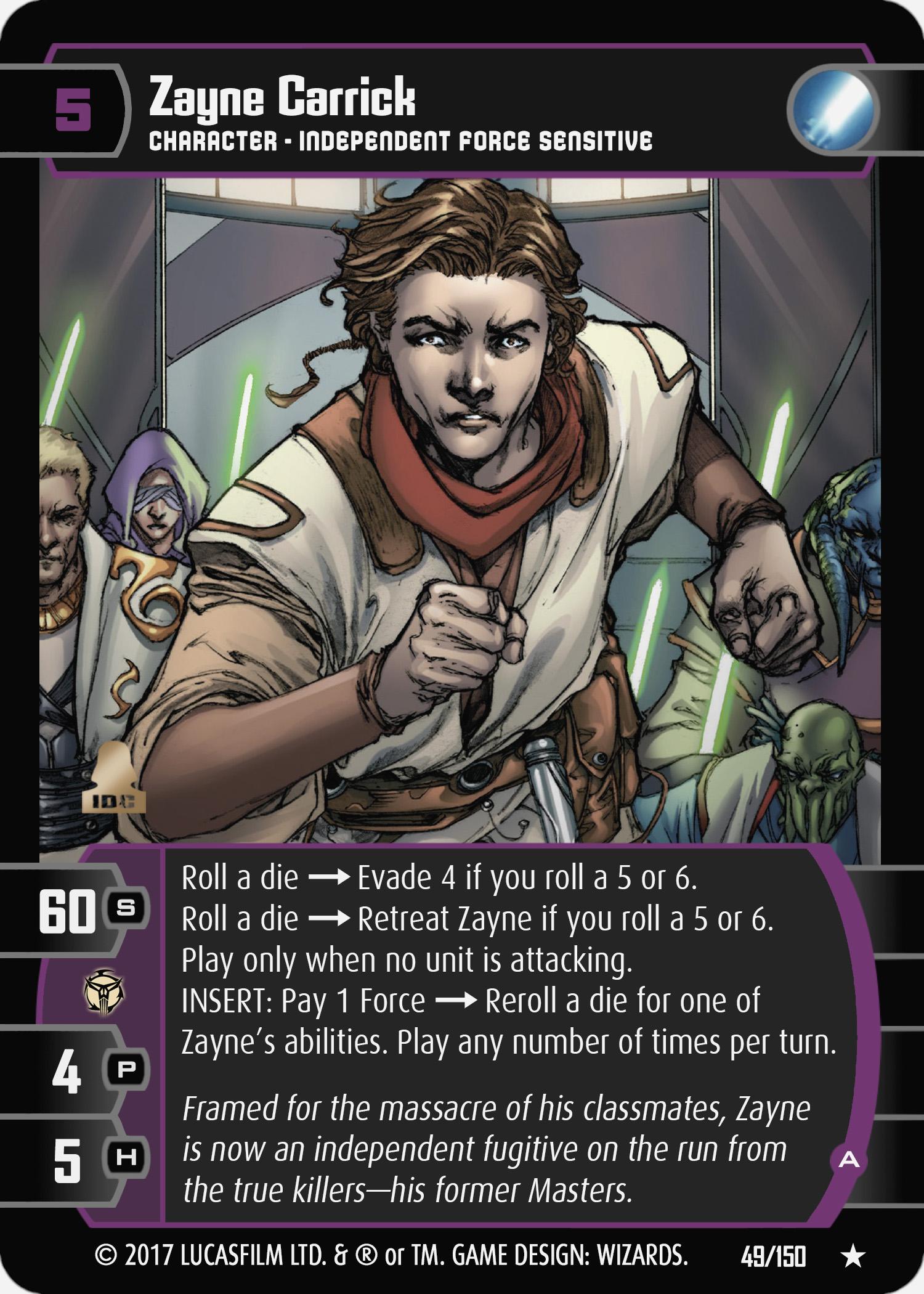 Card Of The Week Zayne Carrick A Star Wars Trading Card Game