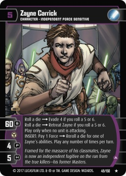 Star Wars Trading Card Game DAN049_Zayne_Carrick_A