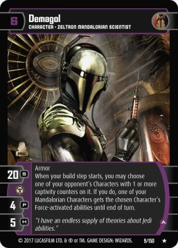 Star Wars Trading Card Game DAN009_Demagol_A