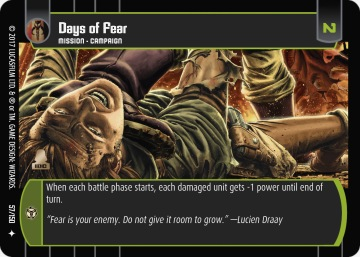 Star Wars Trading Card Game DAN057_Days_of_Fear