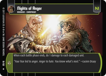 Star Wars Trading Card Game DAN091_Nights_of_Anger