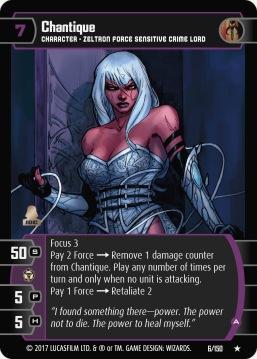 Star Wars Trading Card Game DAN006_Chantique_A