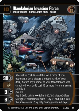 Star Wars Trading Card Game DAN027_Mandalorian_Invasion_Force