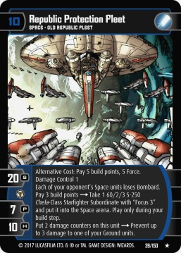 Star Wars Trading Card Game DAN039_Republic_Protection_Fleet