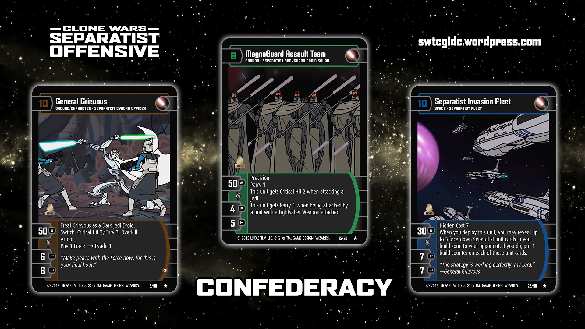Separatist Offensive Star Wars Trading Card Game Independent Development Committee