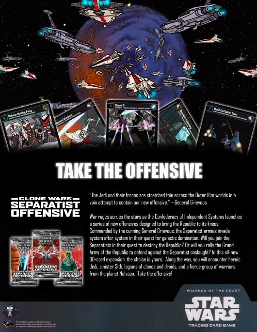 SWTCG SO (Separatist Offensive) Poster