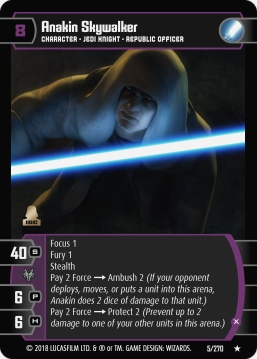 Star Wars Trading Card Game BL005_Anakin_Skywalker_X