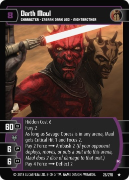 Star Wars Trading Card Game BL026_Darth_Maul_K
