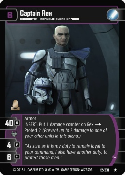 Star Wars Trading Card Game BL012_Captain_Rex_C