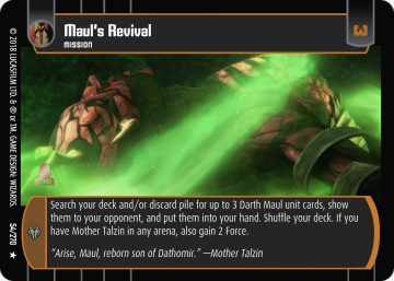 Star Wars Trading Card Game BL054_Maul_s_Revival