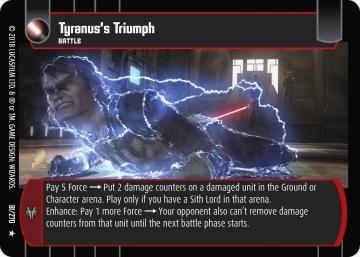 Star Wars Trading Card Game BL081_Tyranus_s_Triumph