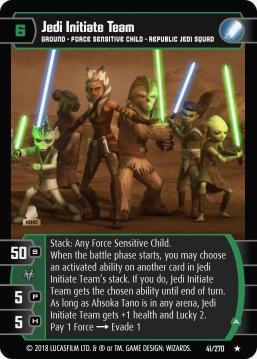 Star Wars Trading Card Game BL041_Jedi_Initiate_Team_A