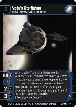 Star Wars Trading Card Game BL178_Yoda_s_Starfighter_A