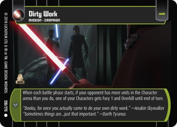 Star Wars Trading Card Game BL200_Dirty_Work