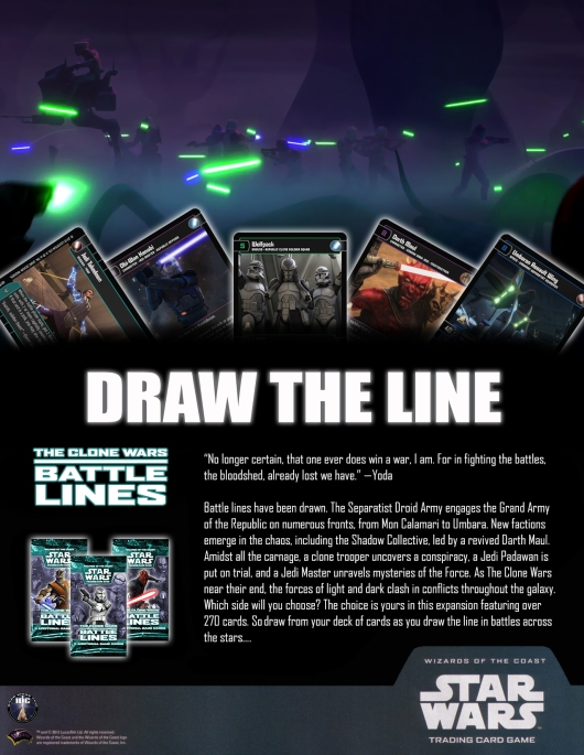 SWTCG BL(Battle Lines) Poster