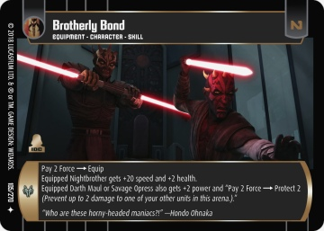 Star Wars Trading Card Game BL105_Brotherly_Bond