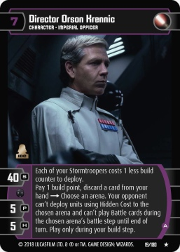 Star Wars Trading Card Game RO019_Director_Orson_Krennic_A