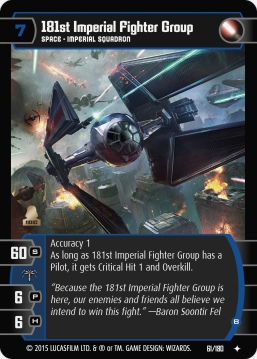 Star Wars Trading Card Game RS061_181st_Imperial_Fighter_Group_B