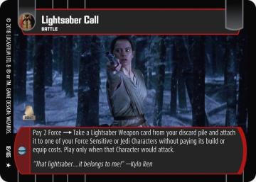 Star Wars Trading Card Game BOSB018_Lightsaber_Call