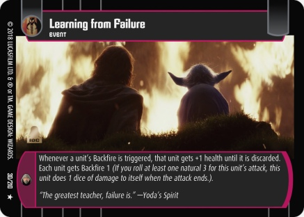 Star Wars Trading Card Game TLJ030_Learning_from_Failure