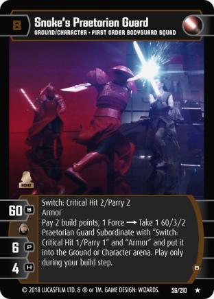 Star Wars Trading Card Game TLJ056_Snoke_s_Praetorian_Guard_B