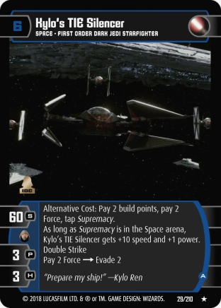 Star Wars Trading Card Game TLJ029_Kylo_s_TIE_Silencer_A