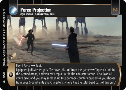 star wars trading card game tlj018_force_projection