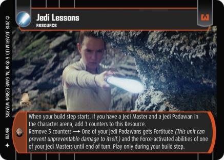 star wars trading card game tlj099_jedi_lessons