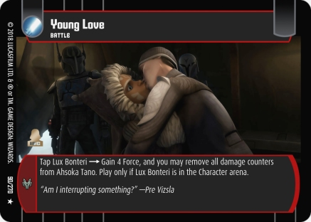 Star Wars Trading Card Game BL090_Young_Love