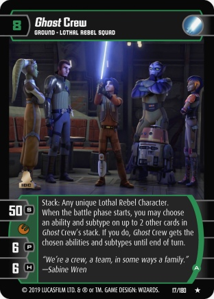 Star Wars Trading Card Game SOR017_Ghost_Crew_A