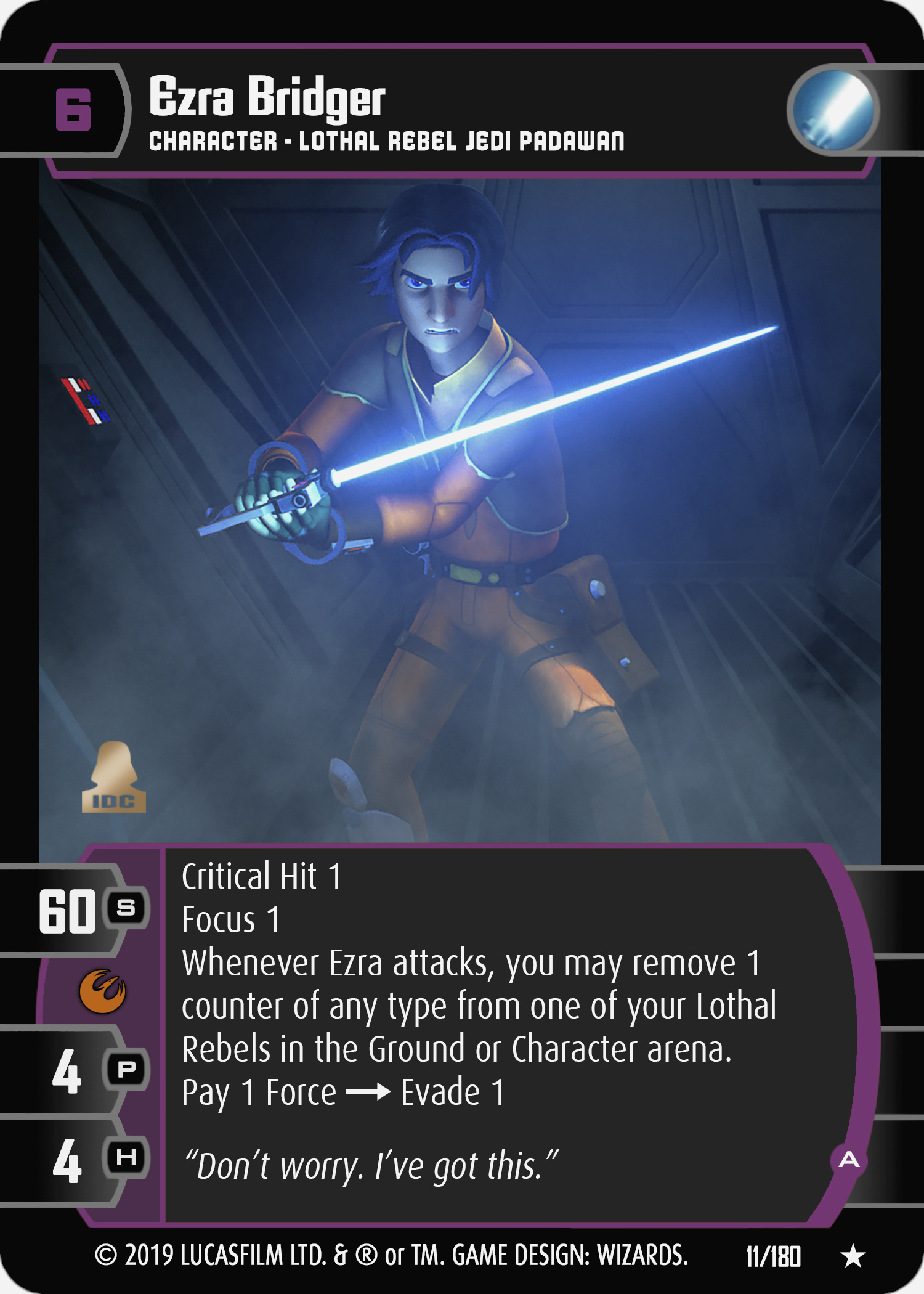 Star Wars Young Jedi  ccg Jedi Council