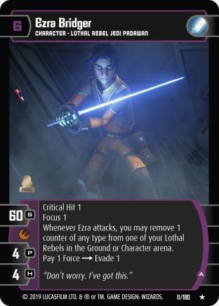 Star Wars Trading Card Game SOR011_Ezra_Bridger_A