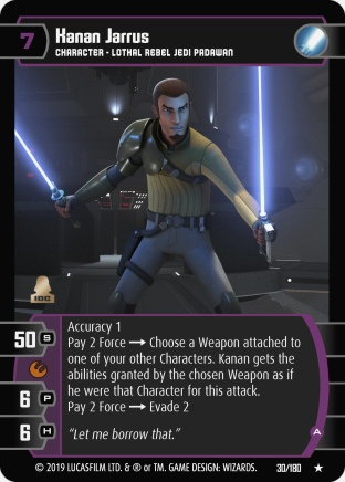 Star Wars Trading Card Game SOR030_Kanan_Jarrus_A