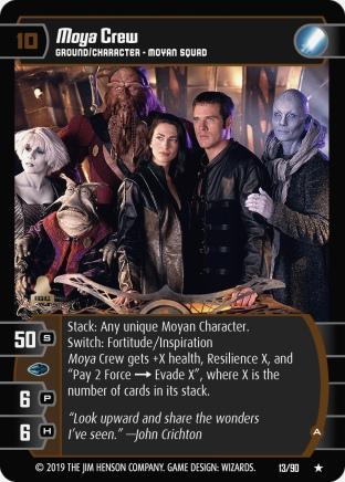 Farscape Trading Card Game FAR013_Moya_Crew_A