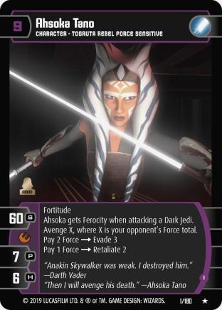 Star Wars Trading Card Game SOR001_Ahsoka_Tano_I