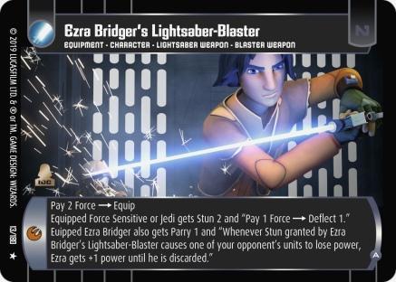 Star Wars Trading Card Game SOR013_Ezra_Bridger_s_Lightsaber_Blaster_A