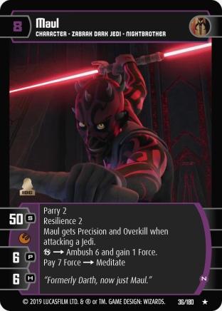 Star Wars Trading Card Game SOR036_Maul_N